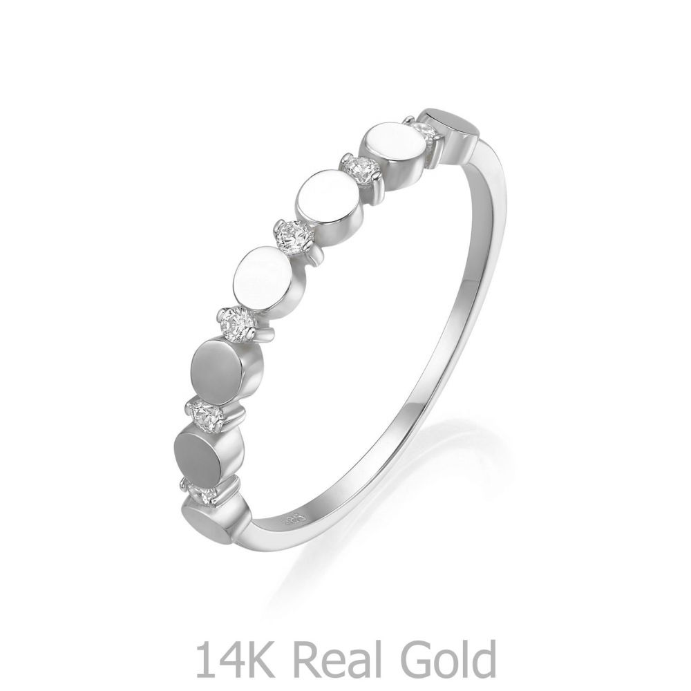 Women's Gold Jewelry | 14K White Gold Ring - Carolina