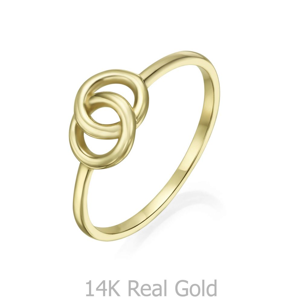 Women's Gold Jewelry | 14K Yellow Gold Ring - Integrated Circles