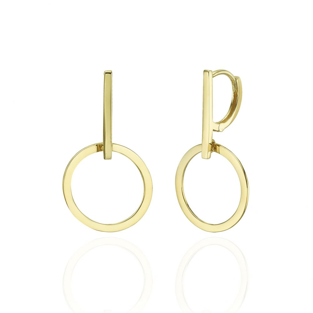 Gold Earrings | 14K Yellow Gold Women's Earrings - Mercury
