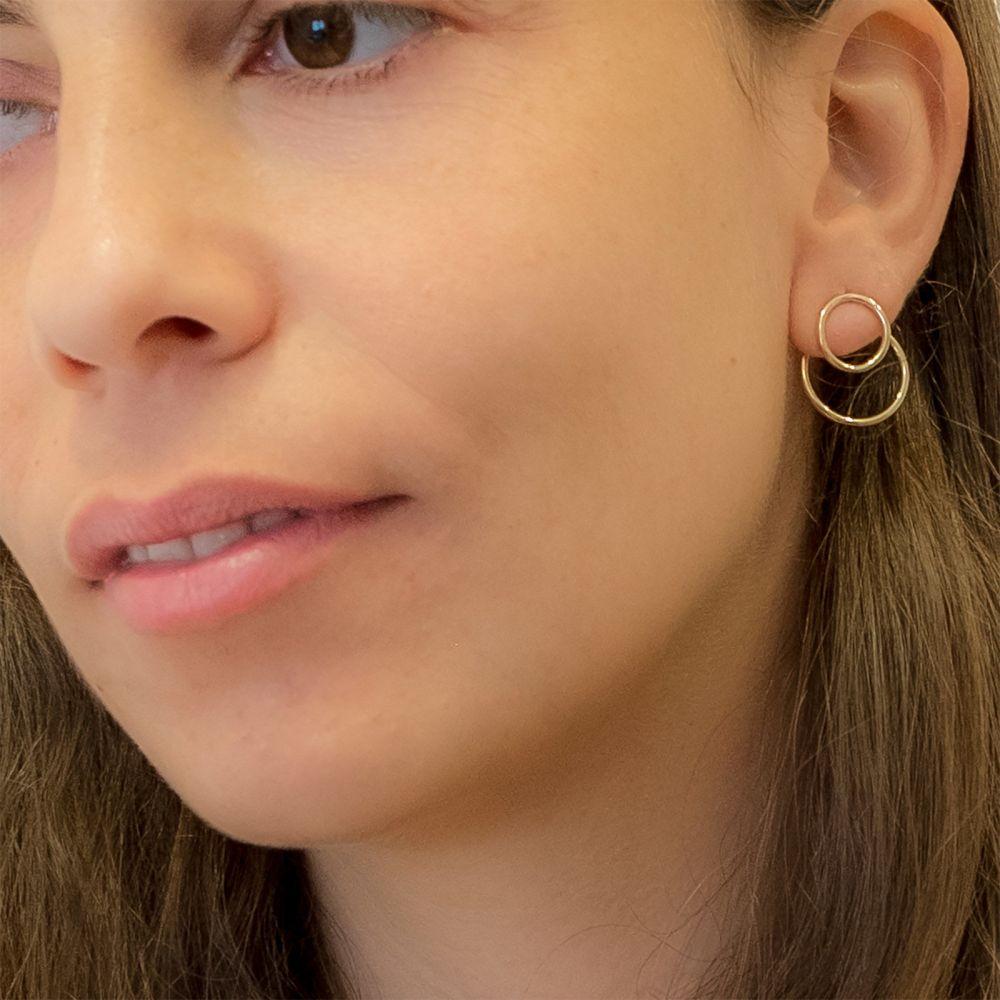 Gold Earrings | 14K Yellow Gold Women's Earrings - Petra