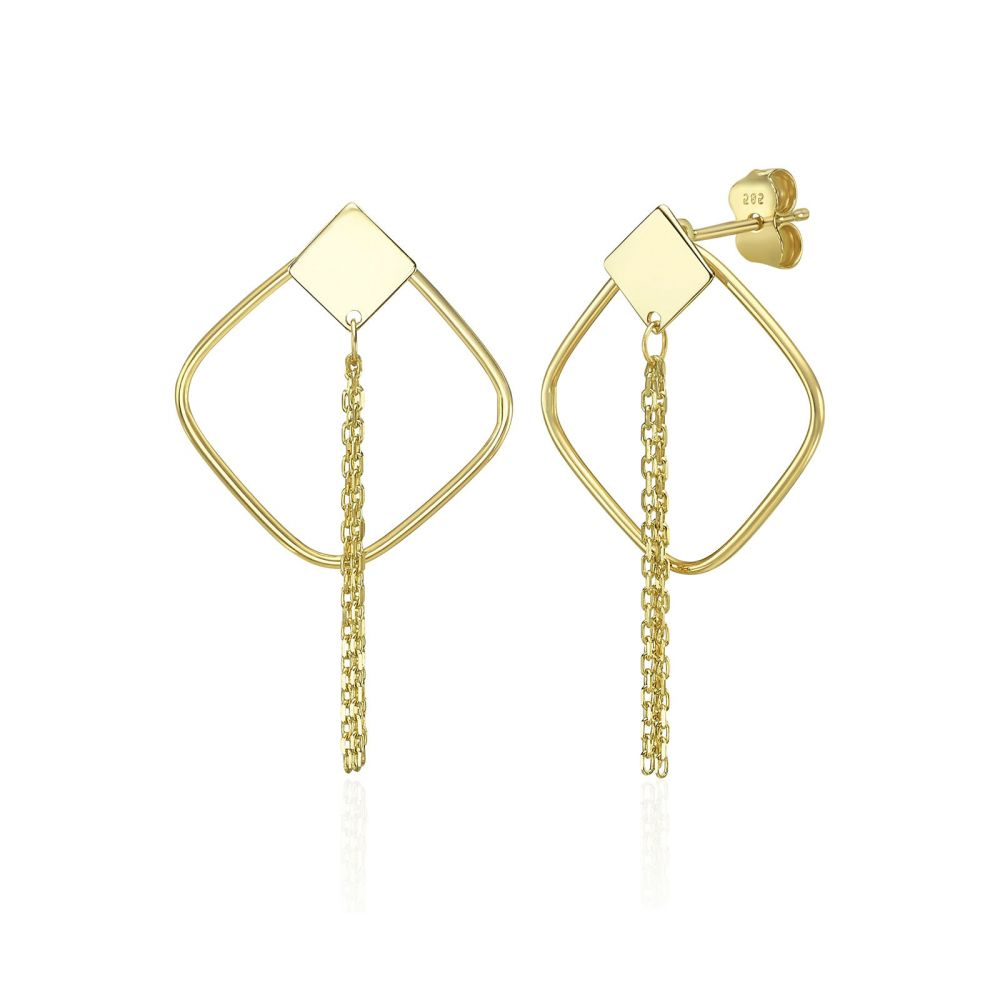 Gold Earrings | 14K Yellow Gold Women's Earrings - Emilia