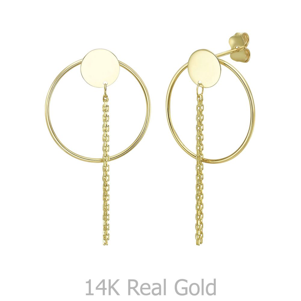 Gold Earrings | Round Shape