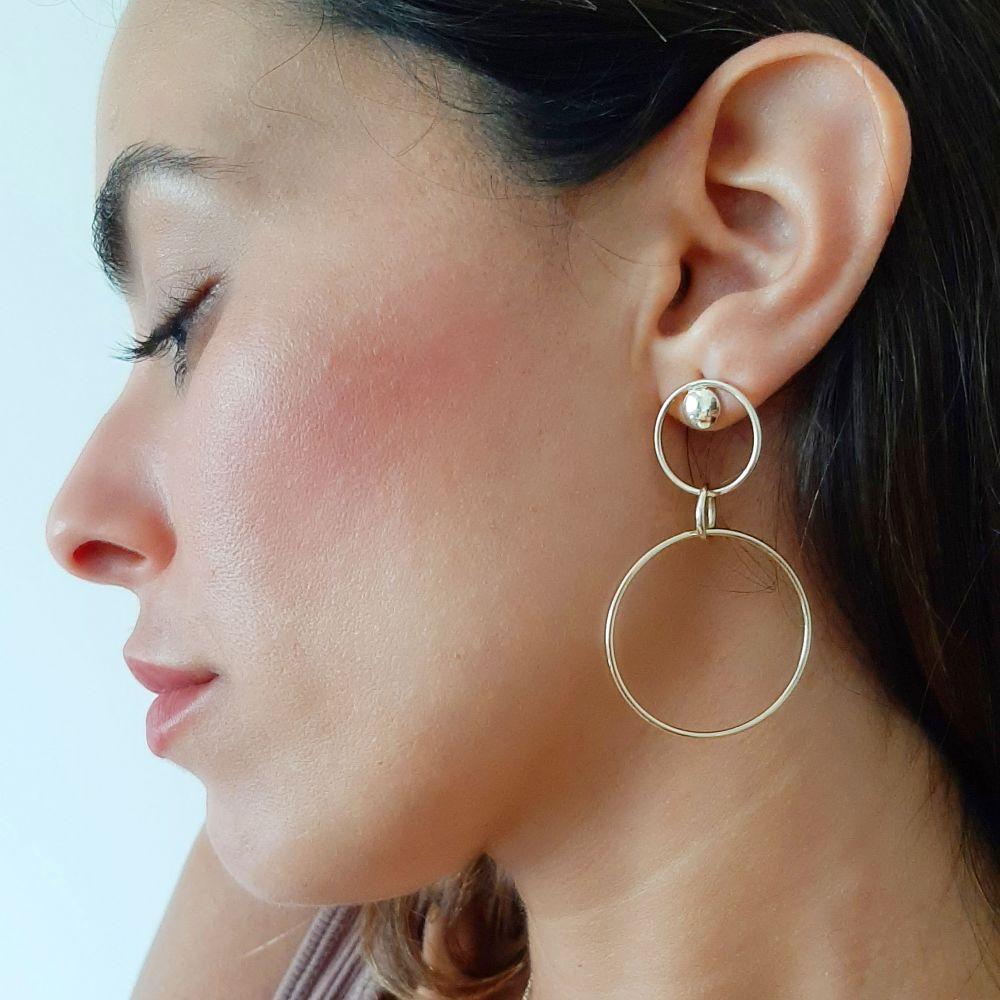 Gold Earrings | 14K Yellow Gold Women's Earrings - Pompeii