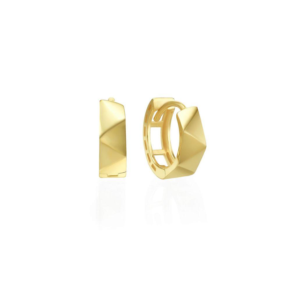 Gold Earrings | 14K Yellow Gold Women's Earrings - Paris