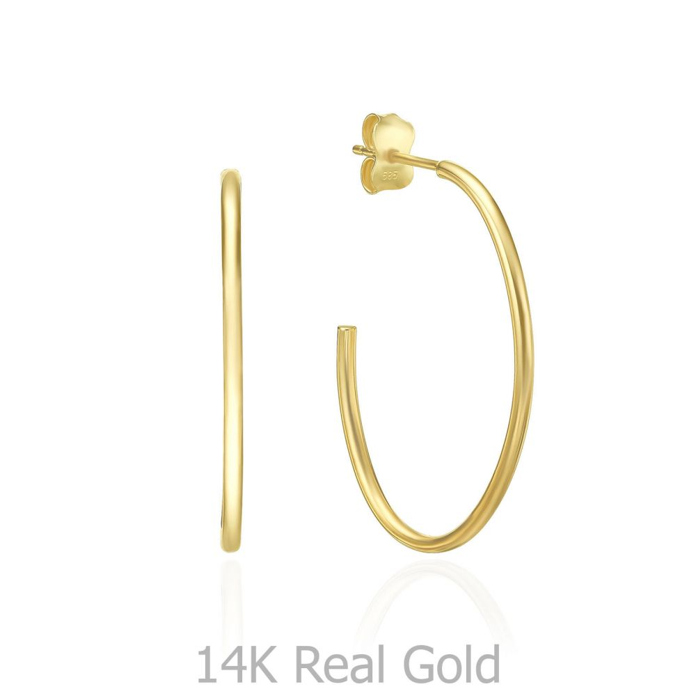 Gold Earrings | 14K Yellow Gold Women's Earrings - Rio