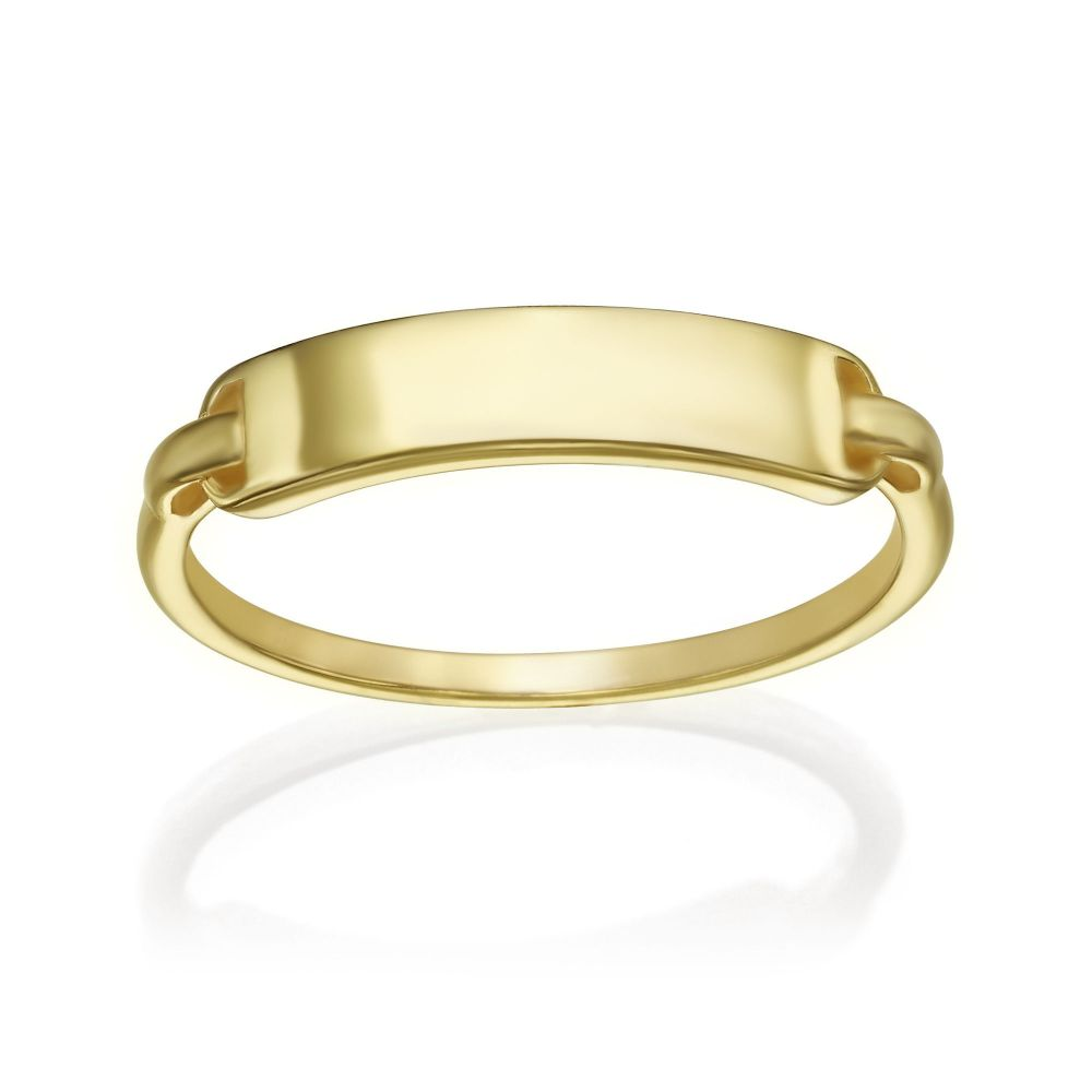 Women's Gold Jewelry | 14K Yellow Gold Ring - Madrid Seal
