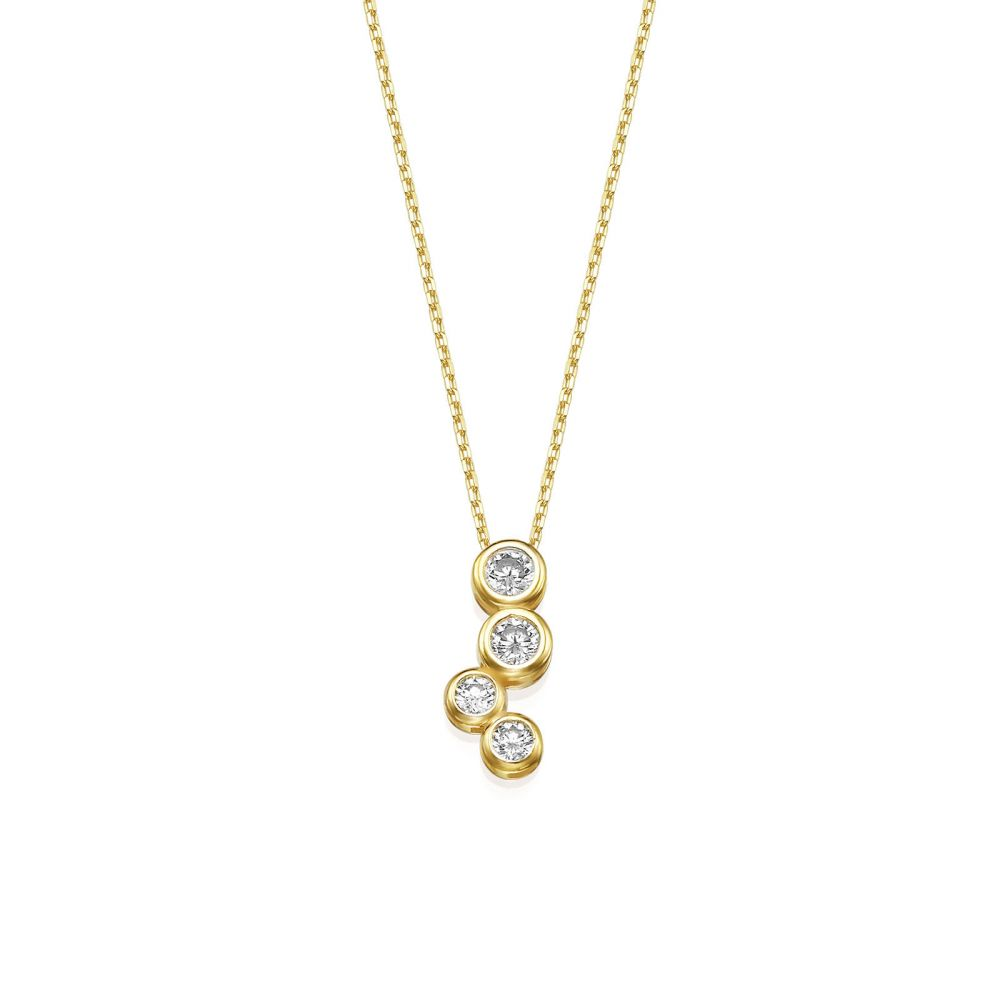Women's Gold Jewelry | 14k Yellow gold women's pendant  - Northern glow