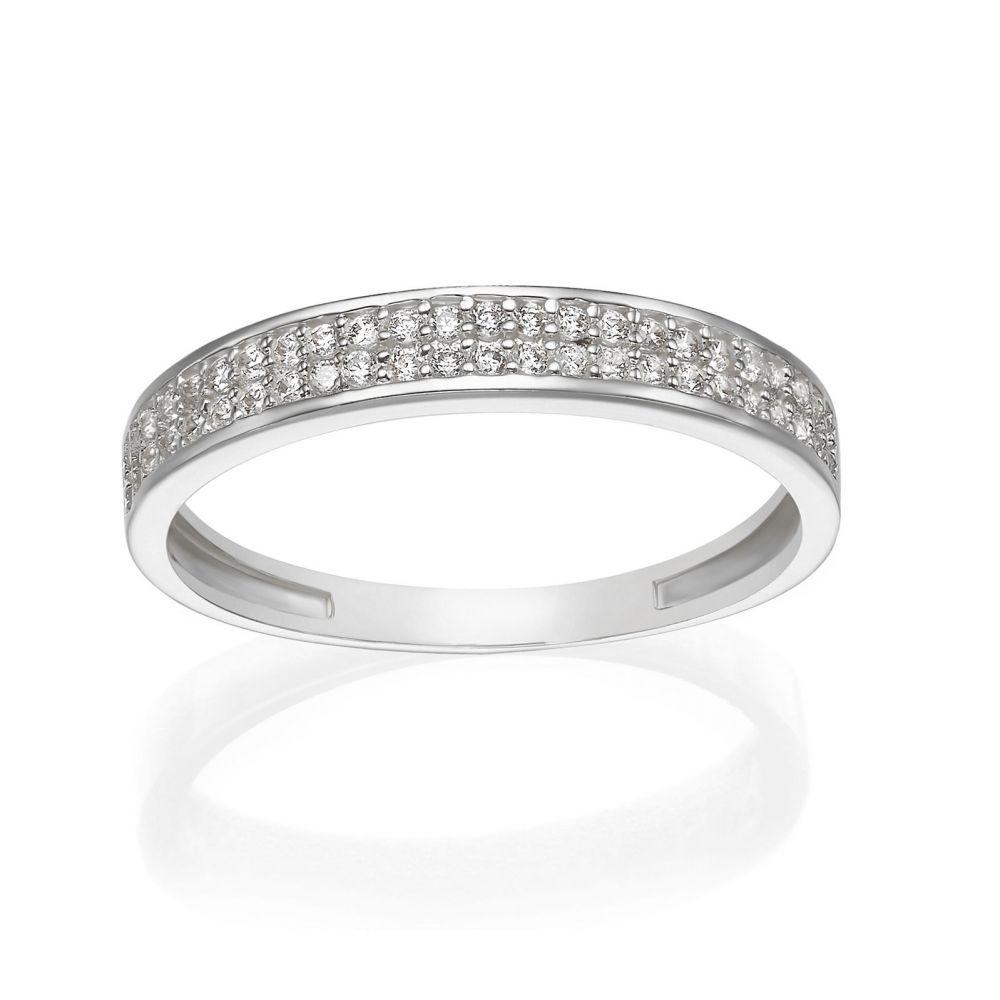 gold rings   14K White Gold Rings - Merian