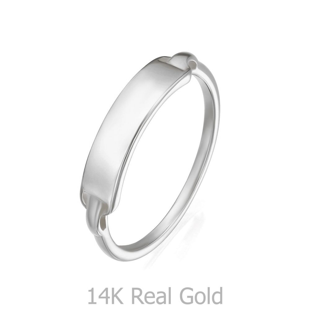Women's Gold Jewelry | 14K White Gold Ring - Madrid Seal