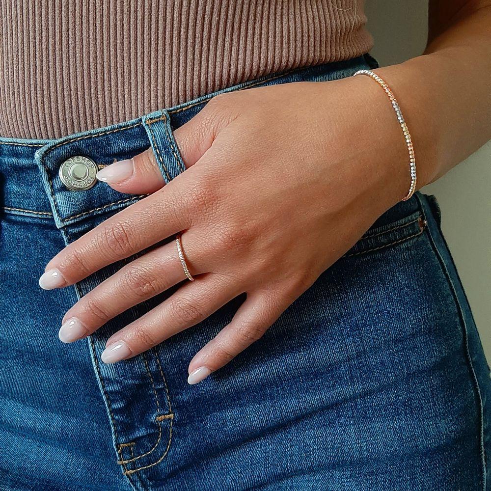 Women's Gold Jewelry | 14K Yellow White and Rose  Gold Women's Bracelets - Balls