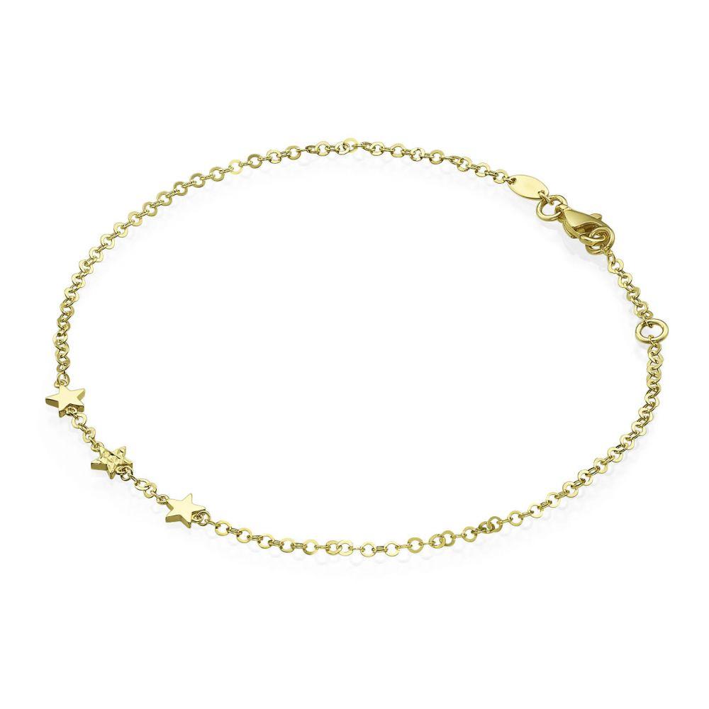 Women's Gold Jewelry | 14K Yellow Gold Ankle Bracelet - Desert Star
