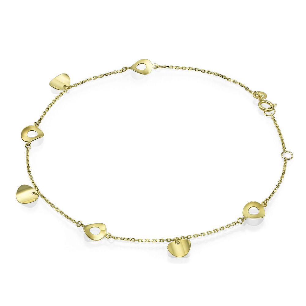 Women's Gold Jewelry | 14K Yellow Gold Ankle Bracelet - Galaxy