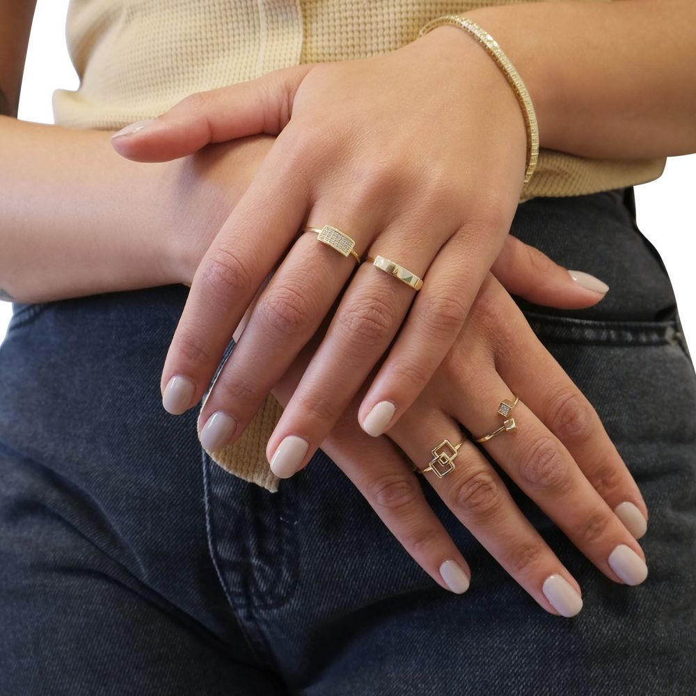 Women's Gold Jewelry | 14K Yellow Gold Ring - Alice