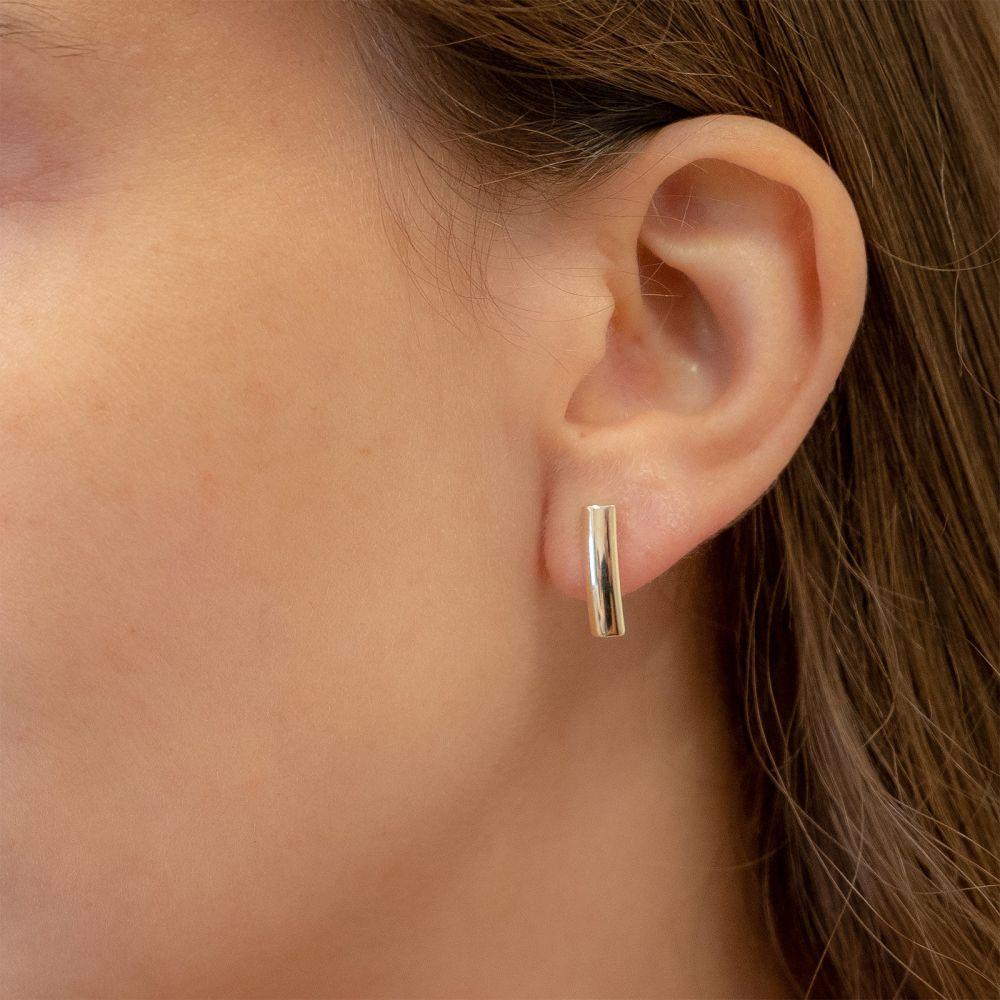 Gold Earrings | 14K Yellow Gold Women's Earrings - Short Thea