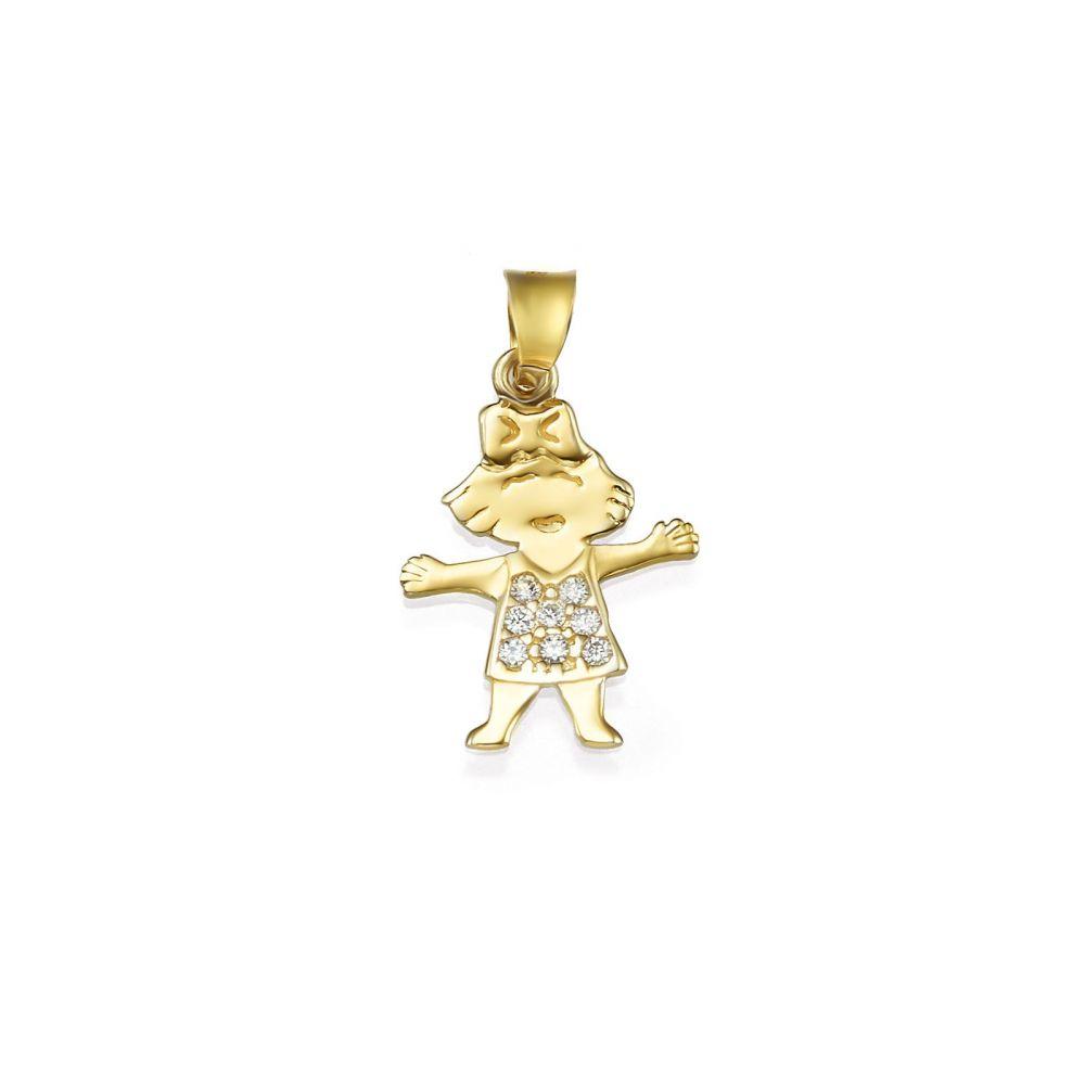 Women's Gold Jewelry | 14k Yellow gold women's pendant  - Bell