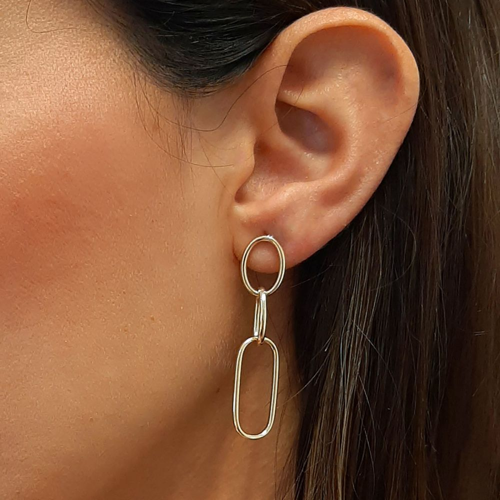 Gold Earrings | 14K Yellow Gold Women's Earrings - Memphis