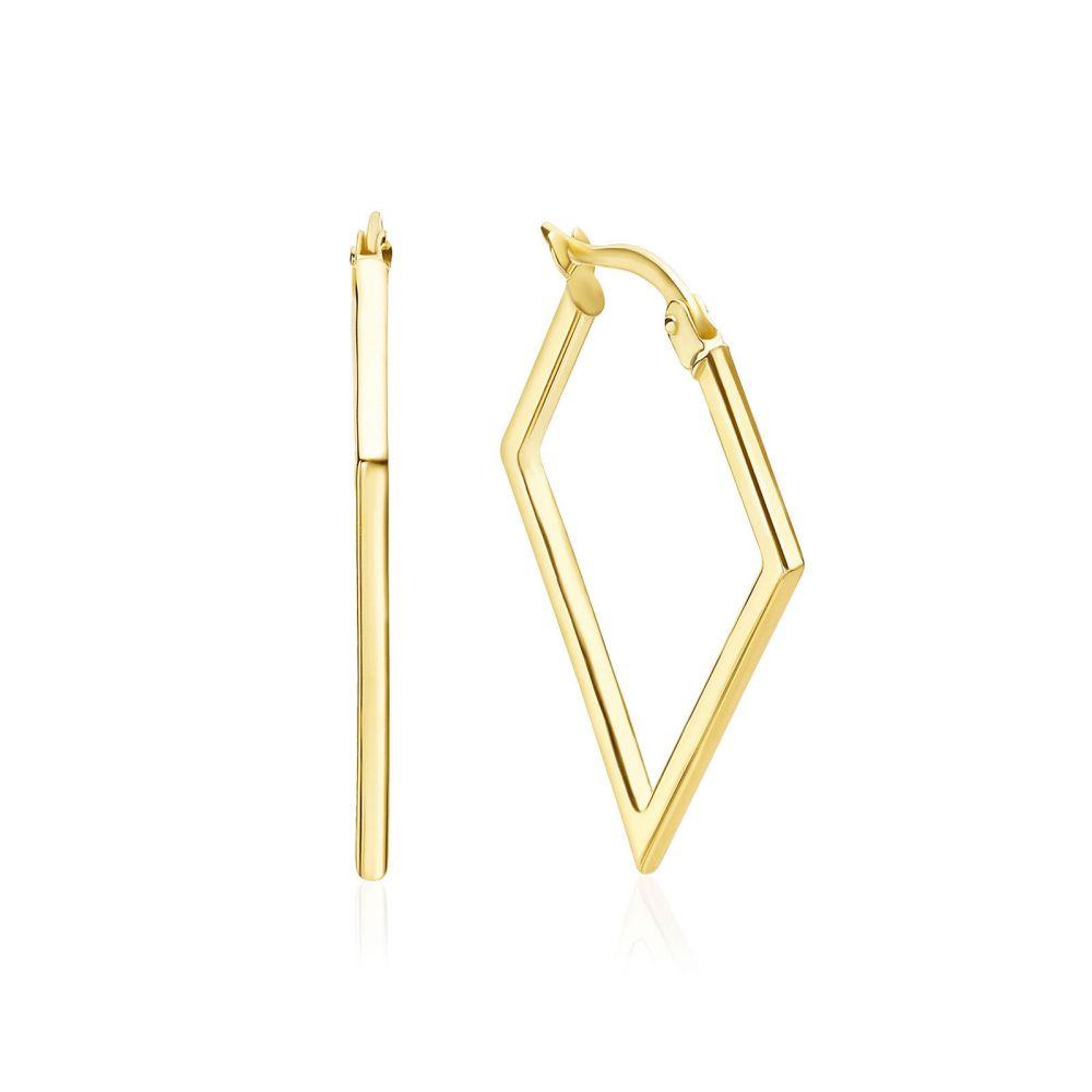 Women's Gold Jewelry | 14K Yellow Gold Women's Earrings - Brazil