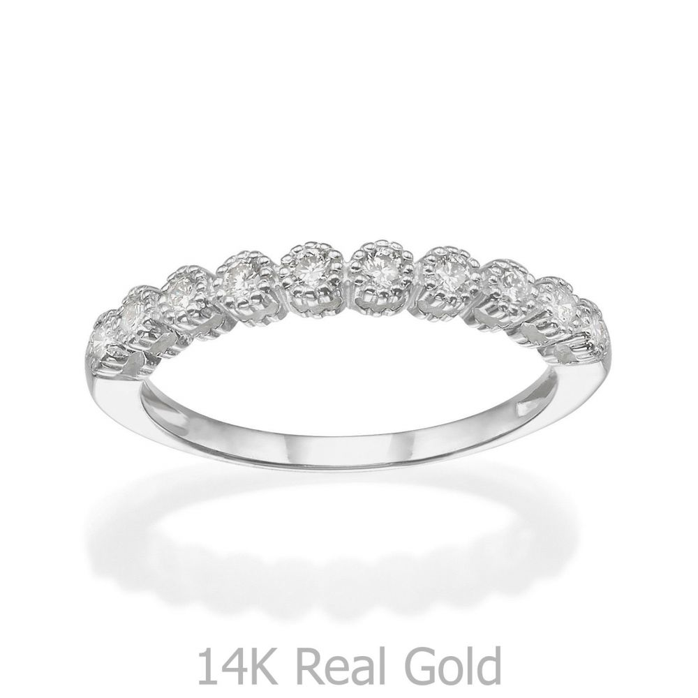 Diamond Jewelry | 14K  White Gold Diamond Ring  - Izabel