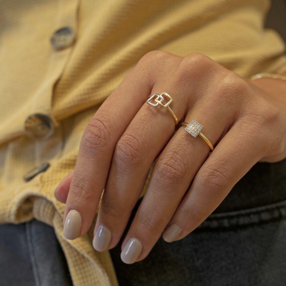 Women's Gold Jewelry | 14K White & Yellow Gold Ring - Alice