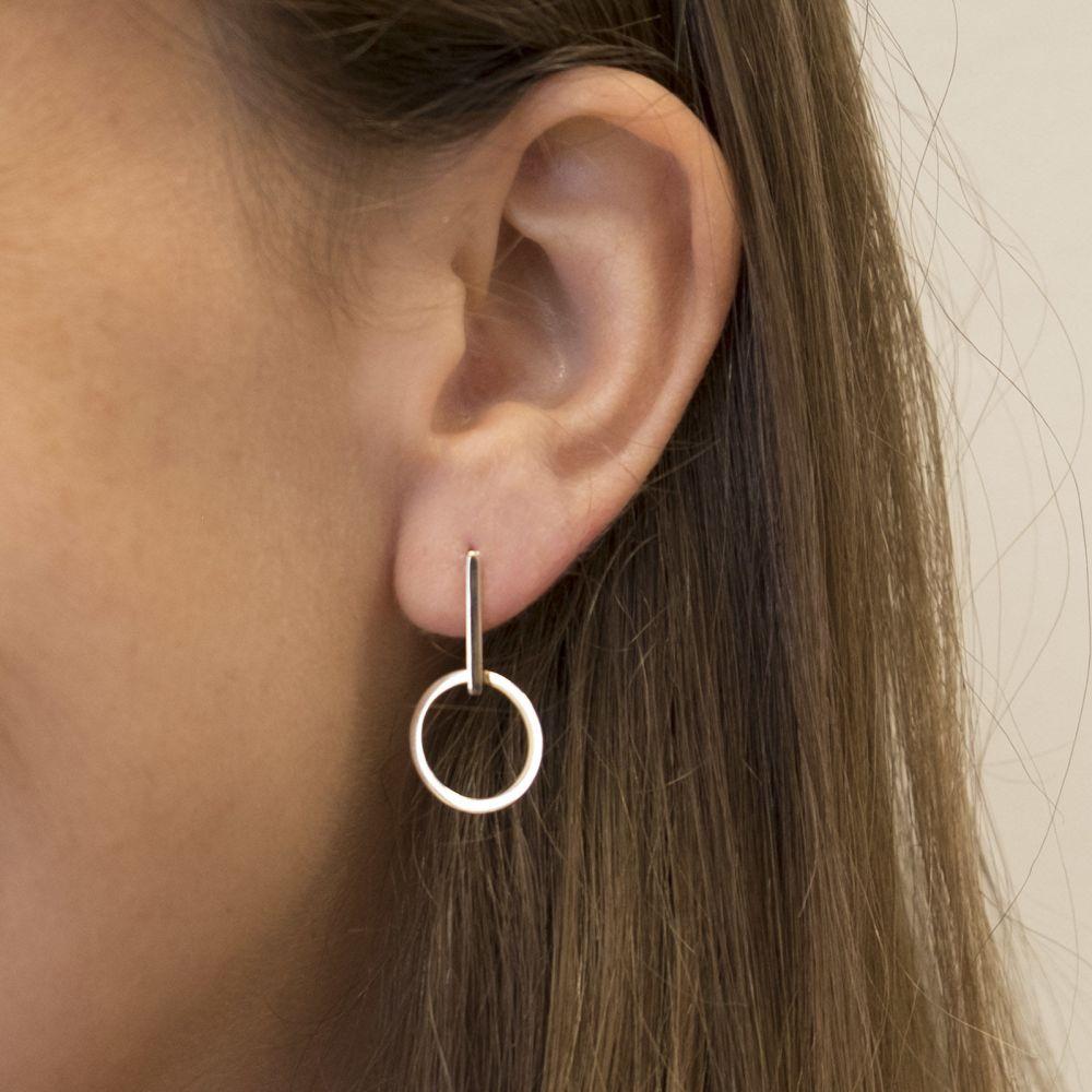 Gold Earrings | 14K Yellow Gold Women's Earrings - Mercury