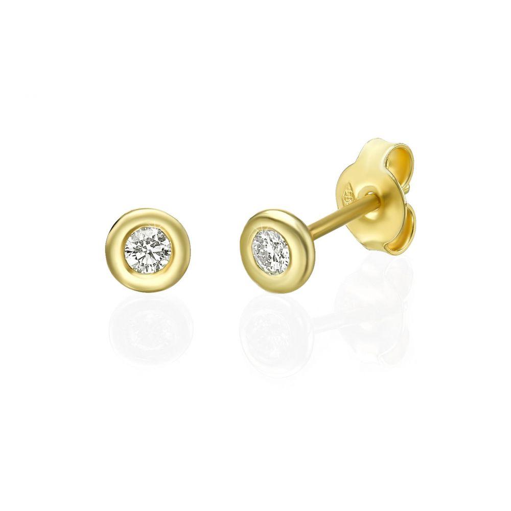 Diamond Jewelry | 14K Yellow Gold Women's Earrings - Chloe