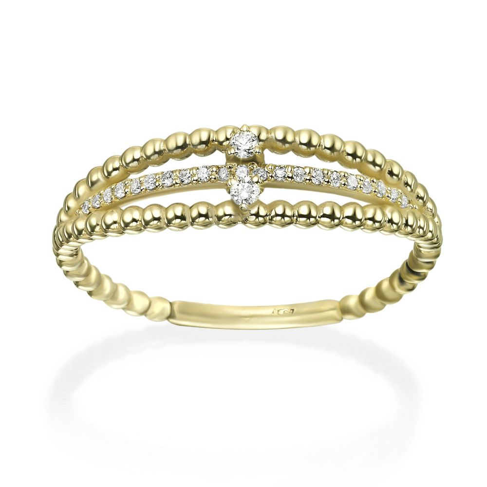 Diamond Jewelry | 14K Yellow Gold Rings - Destine