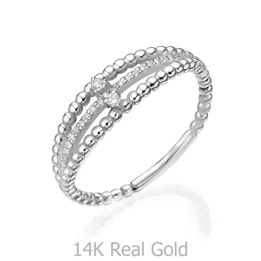 Diamond Jewelry | 14K White Gold Rings - Destine