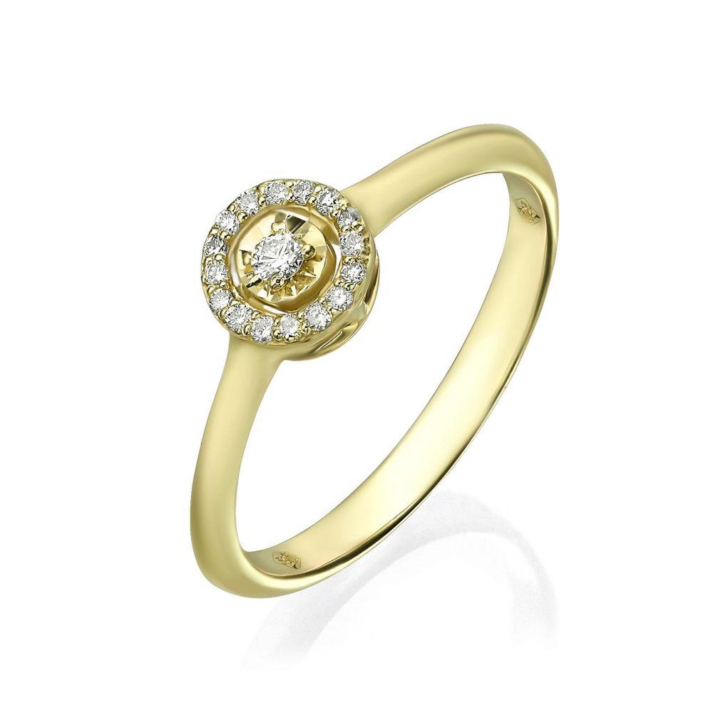 Diamond Jewelry | 14K Yellow Gold Rings - Harley