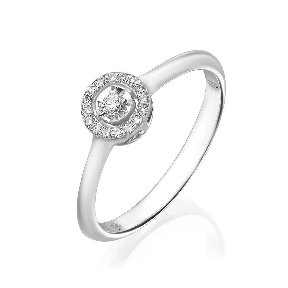 Diamond Jewelry | 14K White Gold Rings - Harley