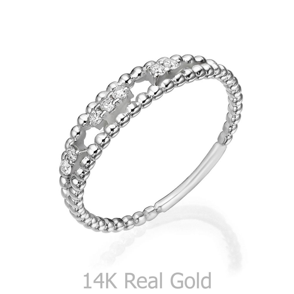 Diamond Jewelry | 14K White Gold Rings - Kylie
