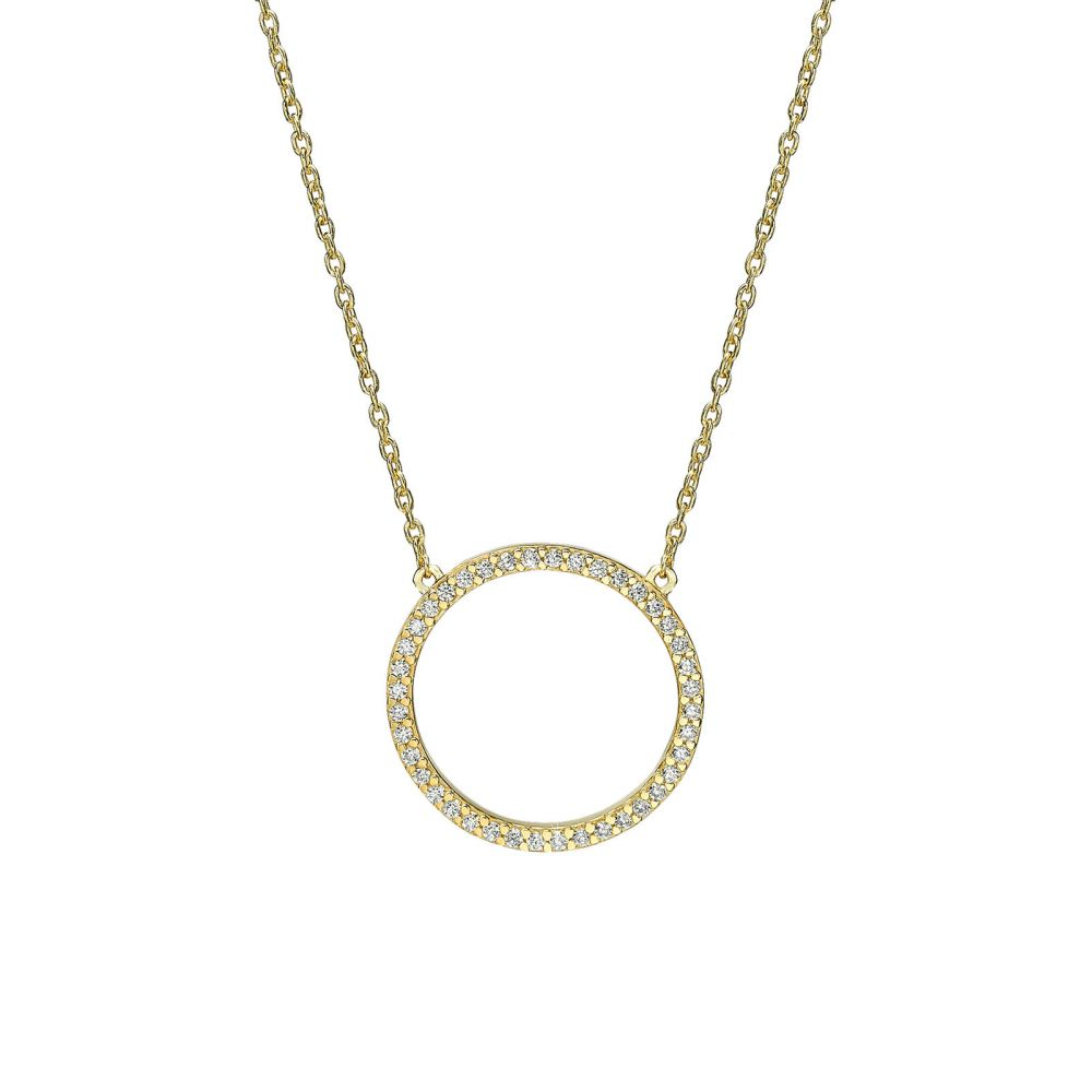 Women's Gold Jewelry | 14k Yellow gold women's pendant - The Circle of Life