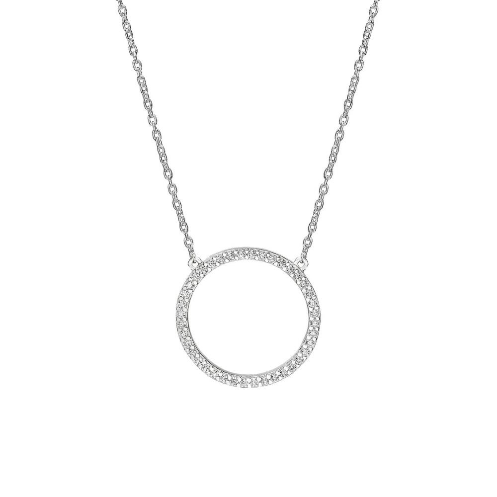Women's Gold Jewelry | 14k White gold women's pendant - The Circle of Life