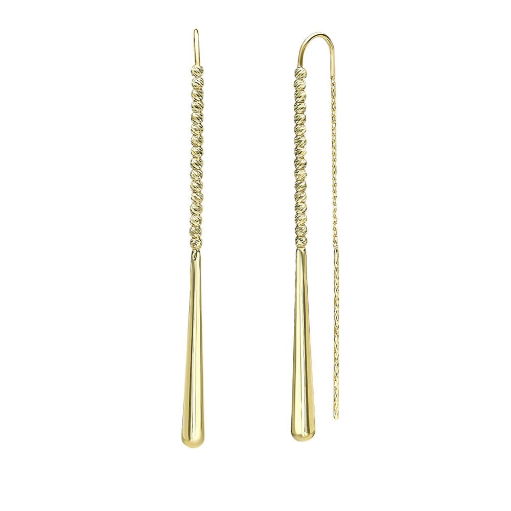 Women's Gold Jewelry | 14K Yellow Gold Dangle Earrings - Jolene
