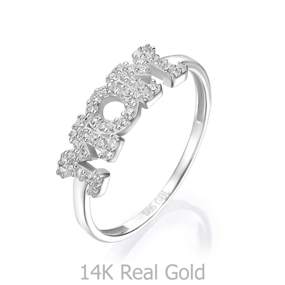 Women's Gold Jewelry | 14K White Gold Ring - Sparkling mom