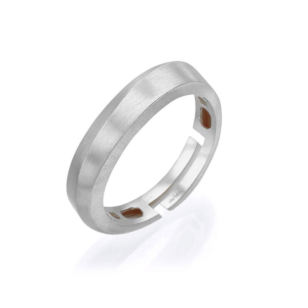 Women's Gold Jewelry | 14K White Gold Rings -Gentle Matte Wave