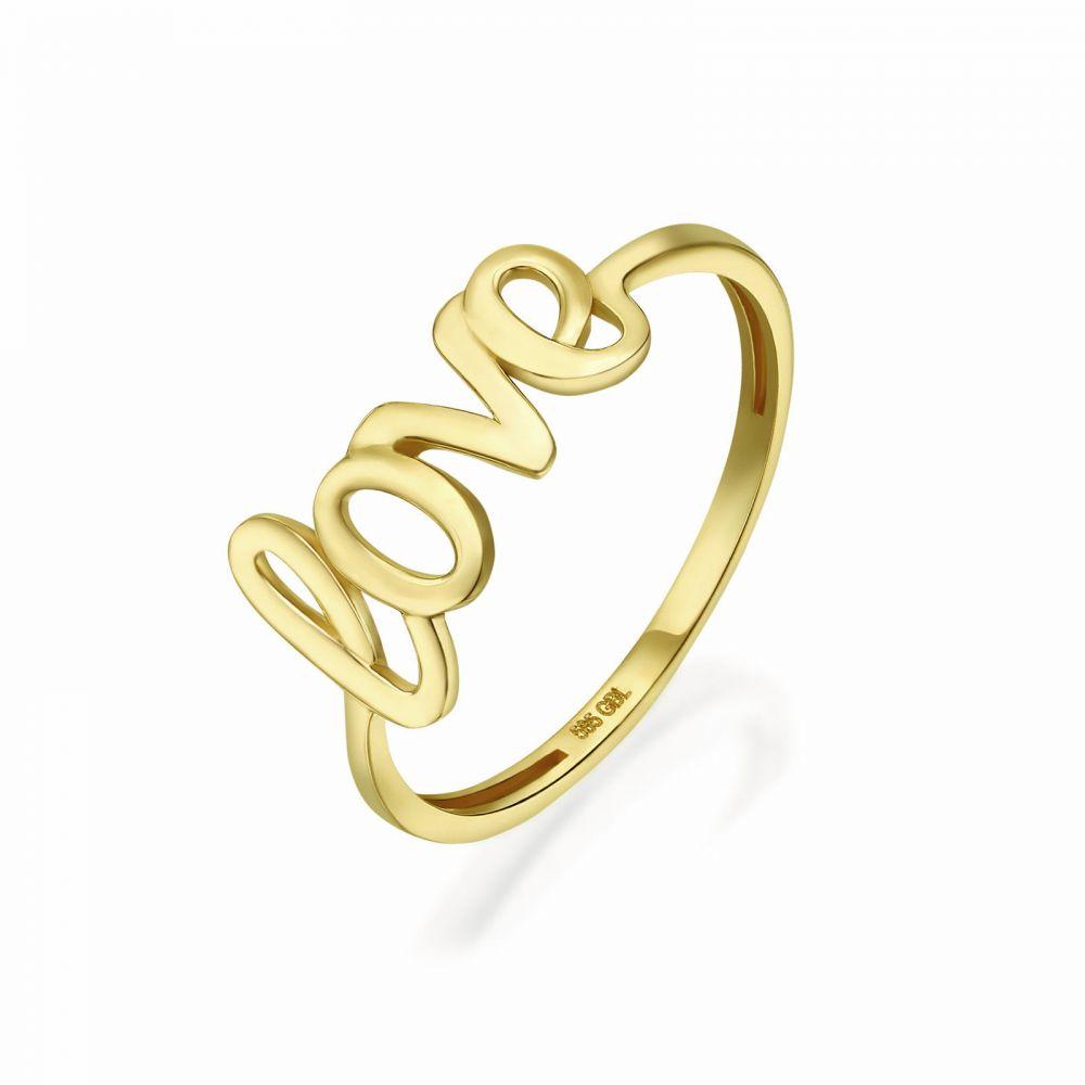 Women's Gold Jewelry | 14K Yellow Gold Rings -Love