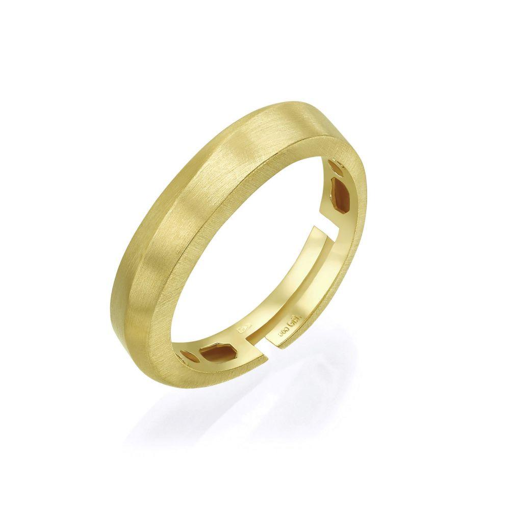 Women's Gold Jewelry | 14K Yellow Gold Rings -Gentle Matte Wave