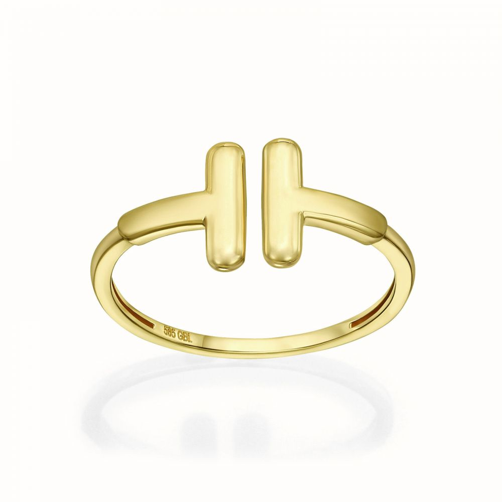 Women's Gold Jewelry | 14K Yellow Gold Rings - Two stripe