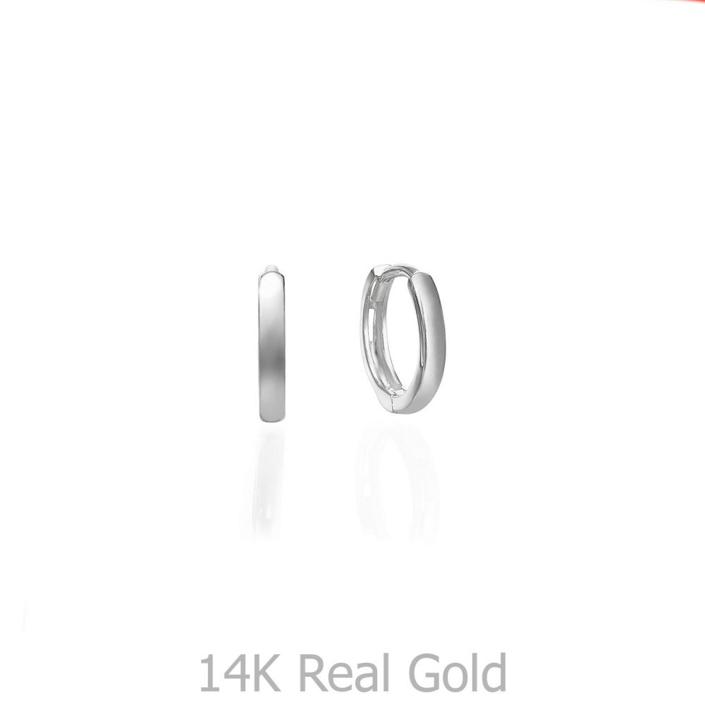 Gold Earrings | 14K Yellow Gold Women's Hoop Earrings - Sher hoops