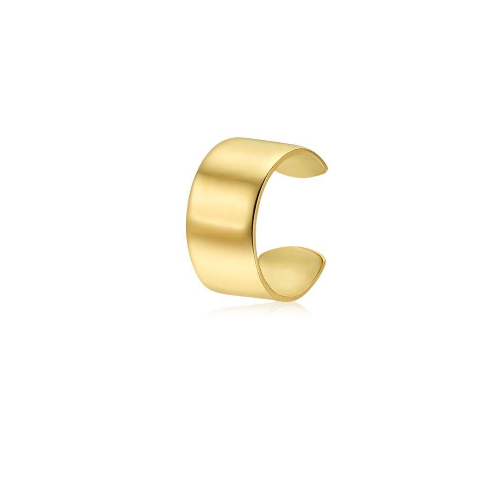 Women's Gold Jewelry | 14K Yellow Gold Women's Cuff Earrings - Helix Hoop Earrings