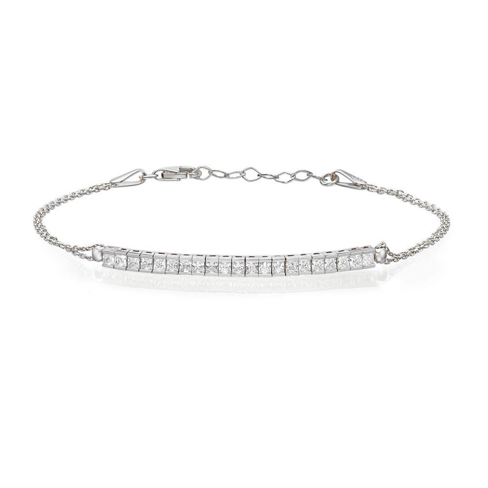 Women's Gold Jewelry | 14K White  Gold Women's Bracelets - Brock