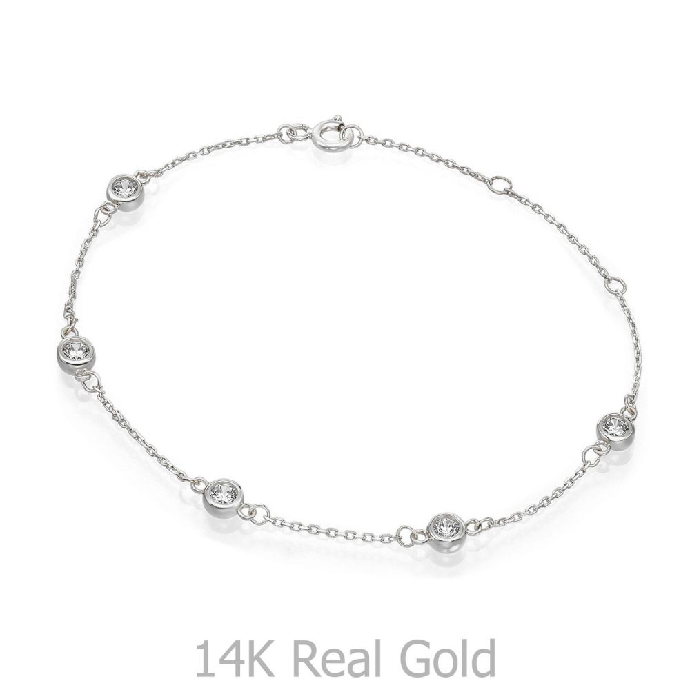 Women's Gold Jewelry | 14K White  Gold Women's Bracelets -  Blake