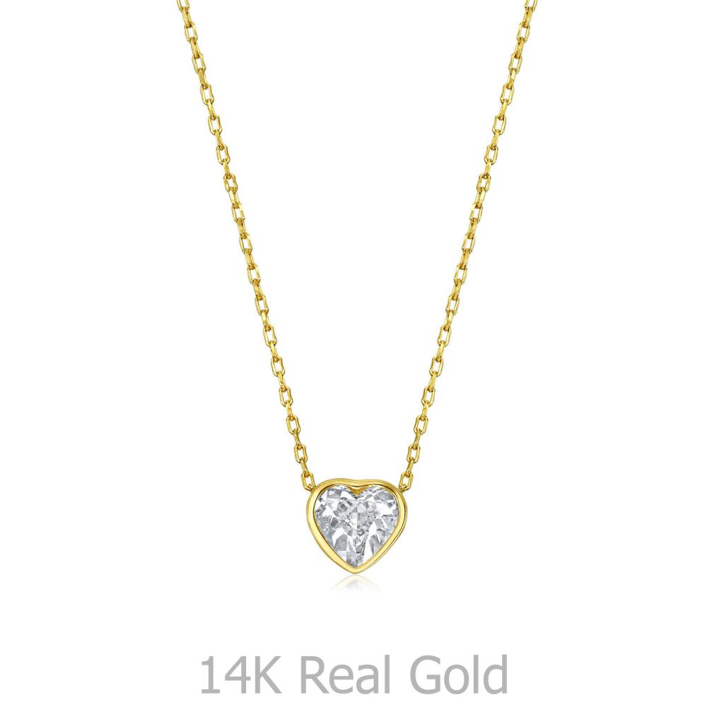 Women's Gold Jewelry | 14k Yellow gold women's pendant - Ocean's Heart