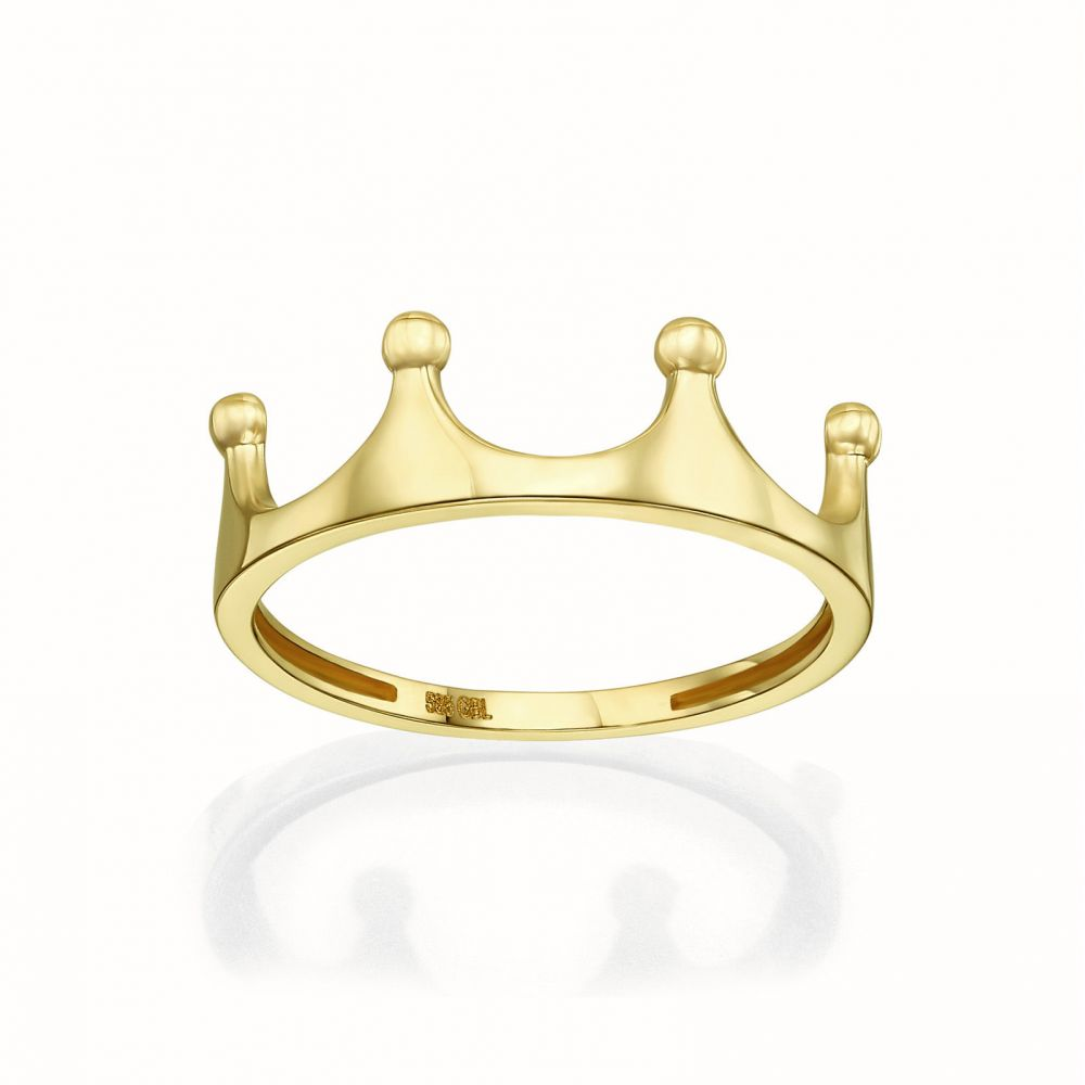 Women's Gold Jewelry | 14K Yellow Gold Rings -The Crown