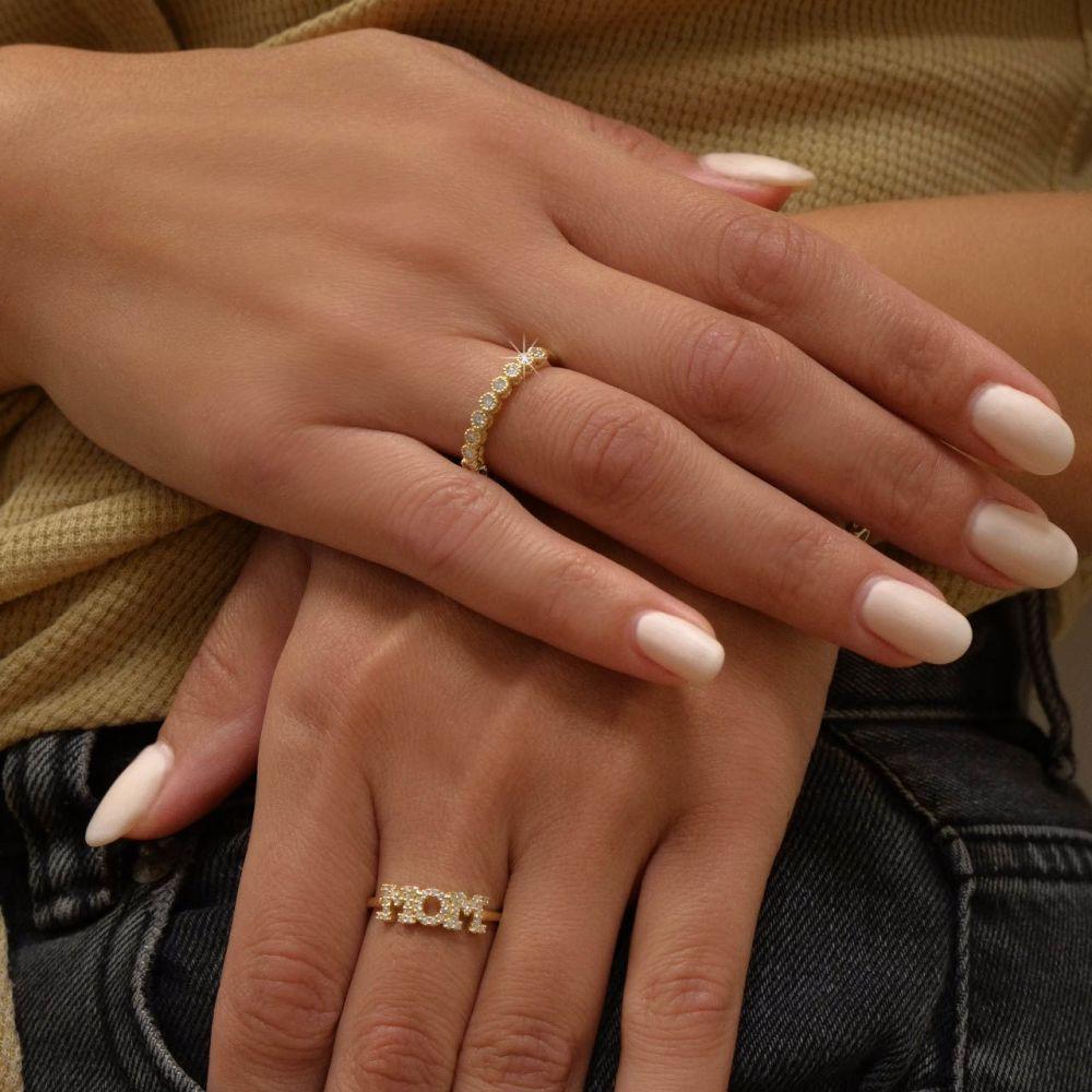 Diamond Jewelry | 14K Yellow Gold  Diamond Ring- Izabel