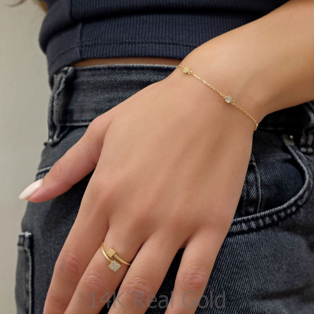 Women's Gold Jewelry | 14K Yellow Gold Women's Bracelets - Camila