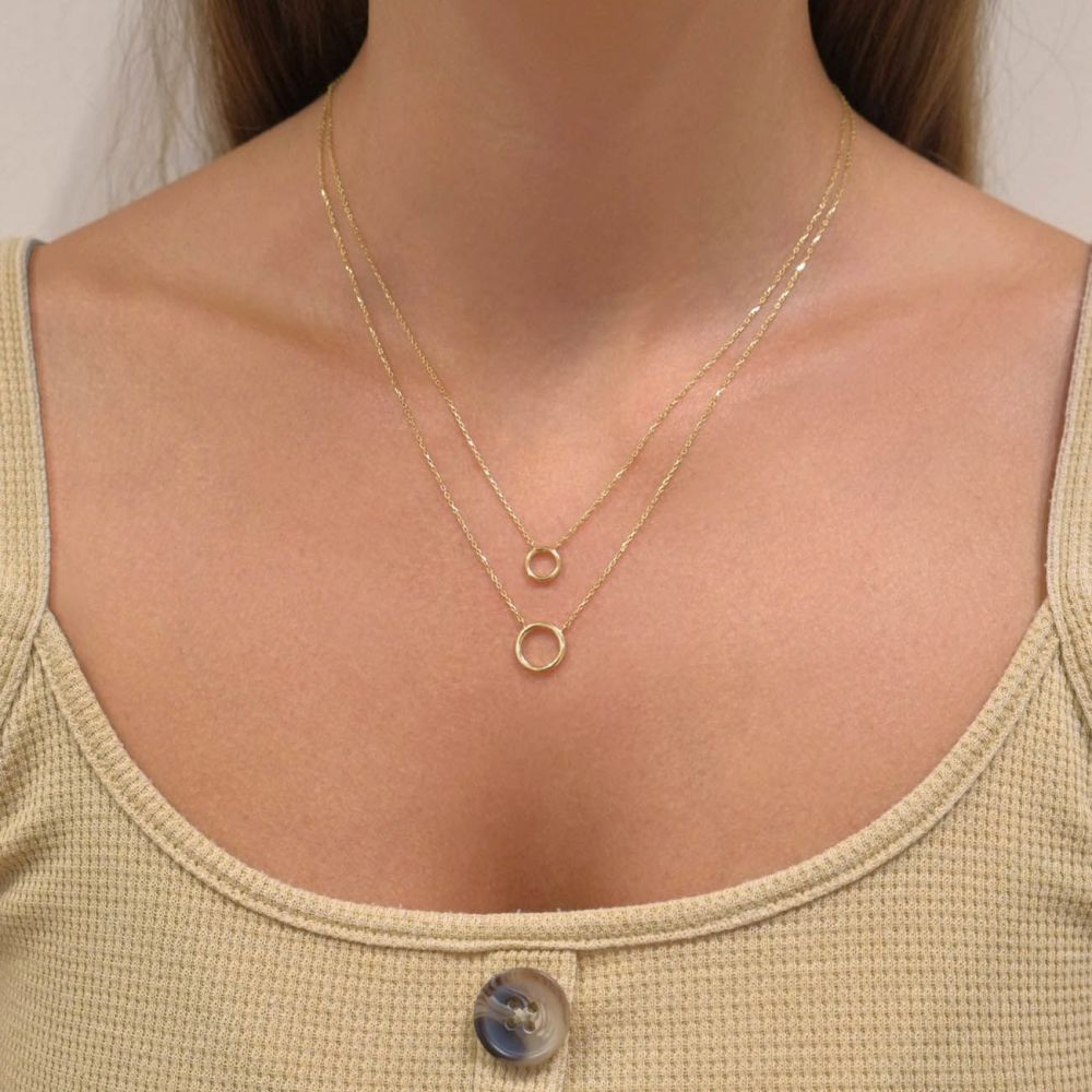 Women's Gold Jewelry | 14k Yellow gold women's pendant  - Libby