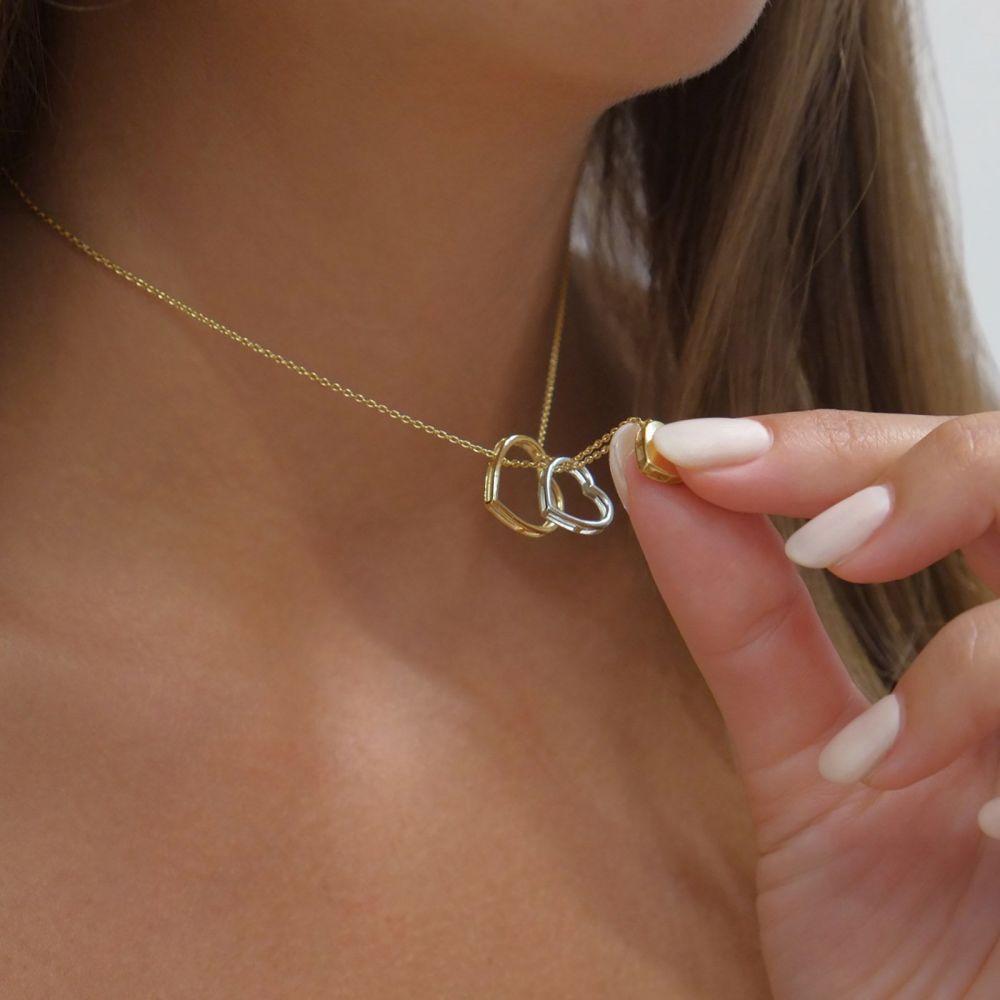 Women's Gold Jewelry | 14k Yellow gold women's pendant  - Miranda's Heart