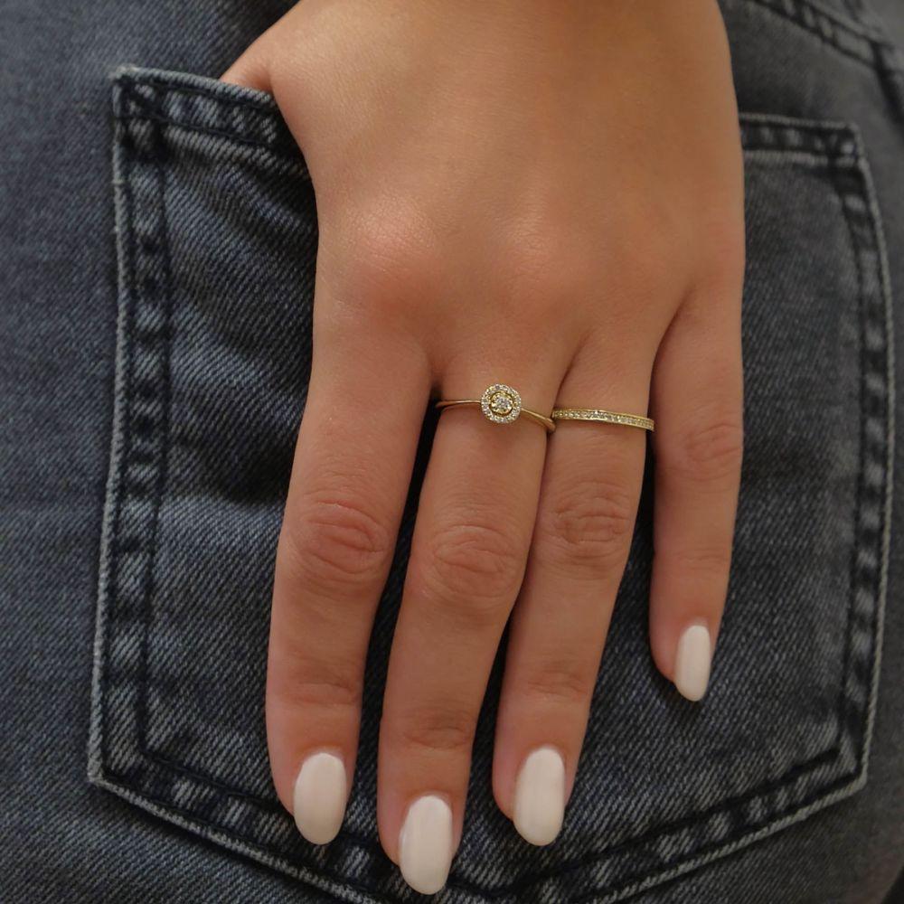 Diamond Jewelry | 14K Yellow Gold Rings - Melody