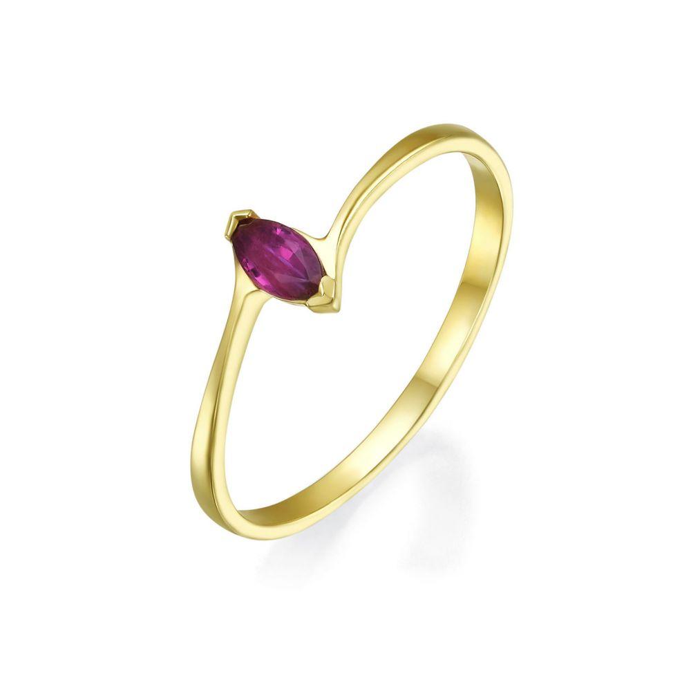 gold rings | 14K Yellow Gold Ruby ring - Nova
